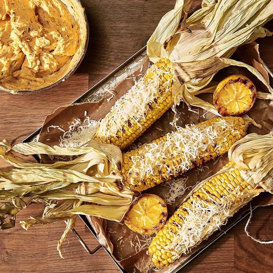Grillad majs med chilismör och manchego