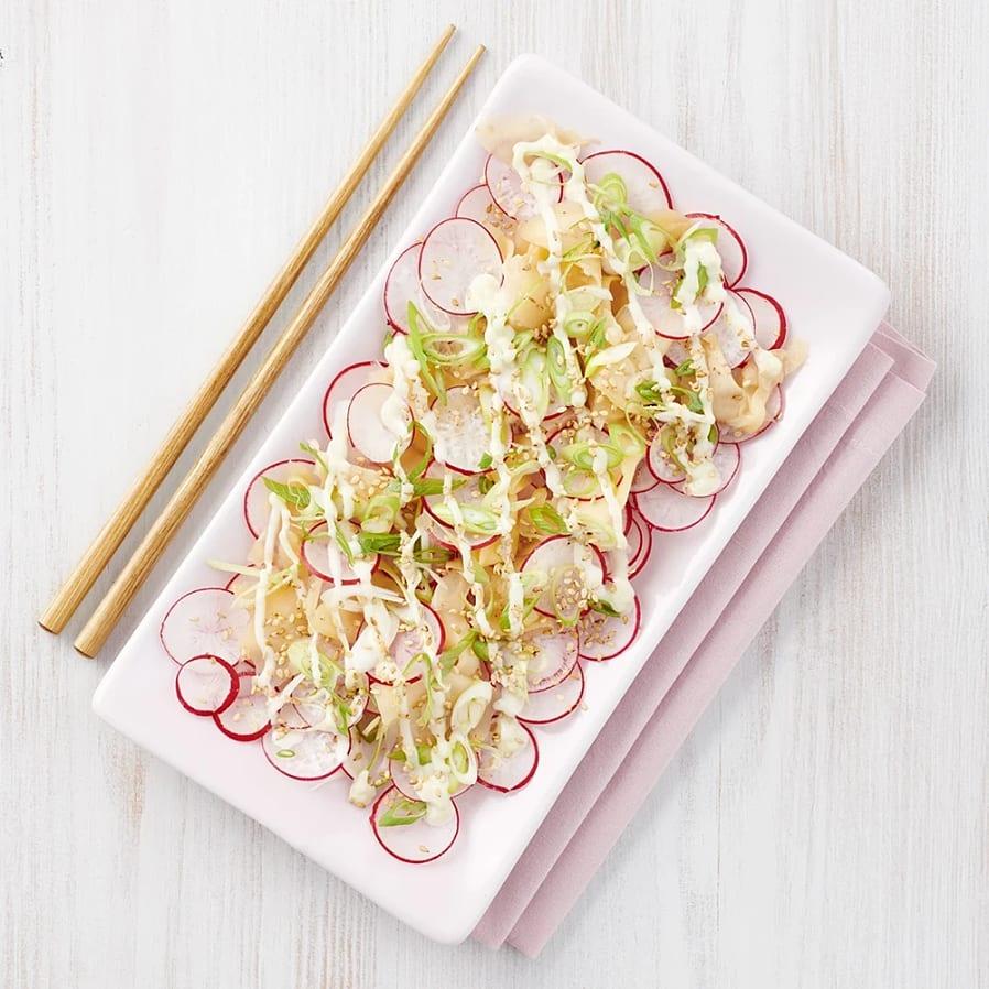 Rädisor med wasabimajonnäs och gari
