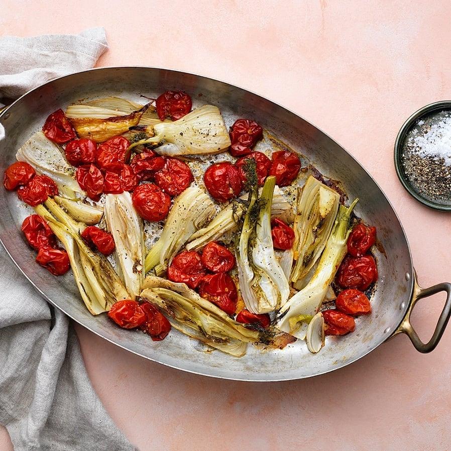 Bakade tomater och fänkål