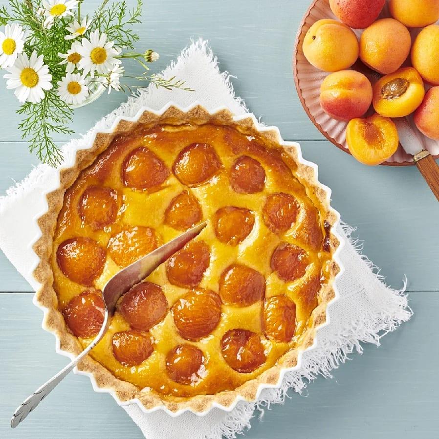 Aprikospaj med mandelmassa
