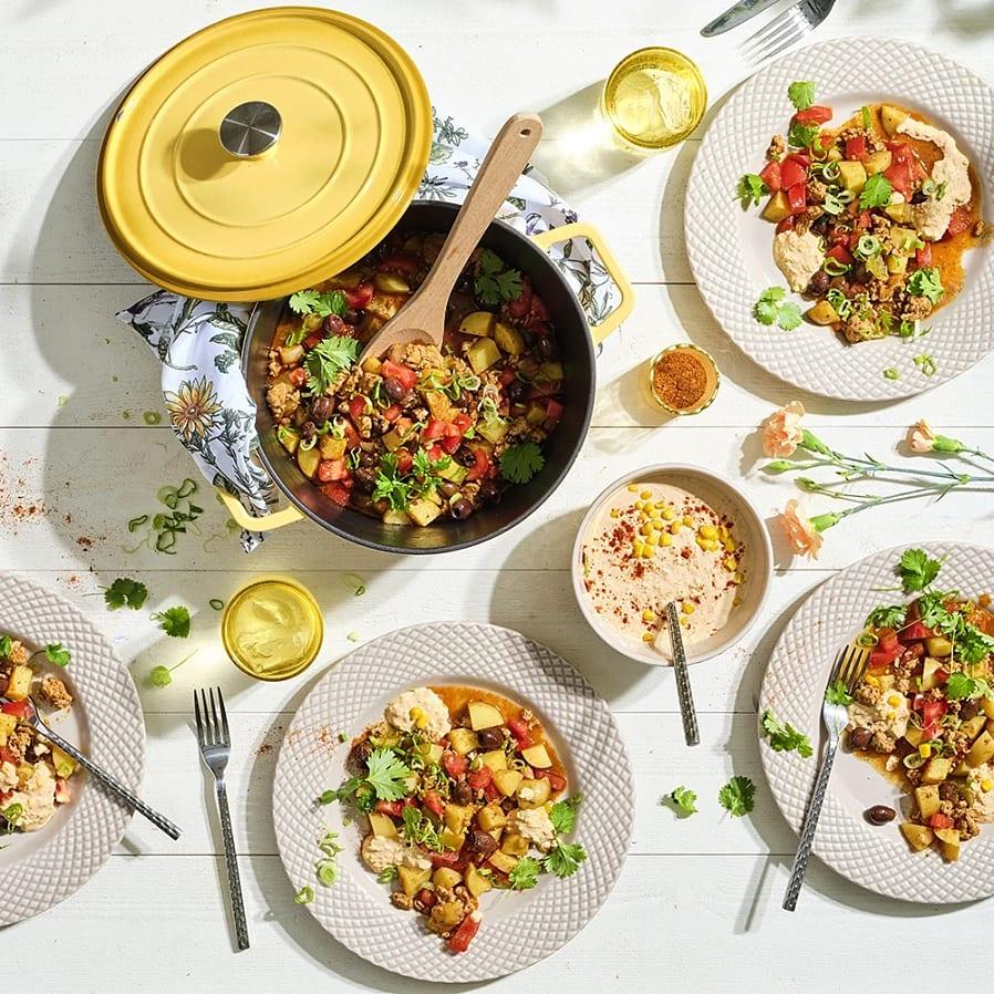Picadillo med kyckling och potatis