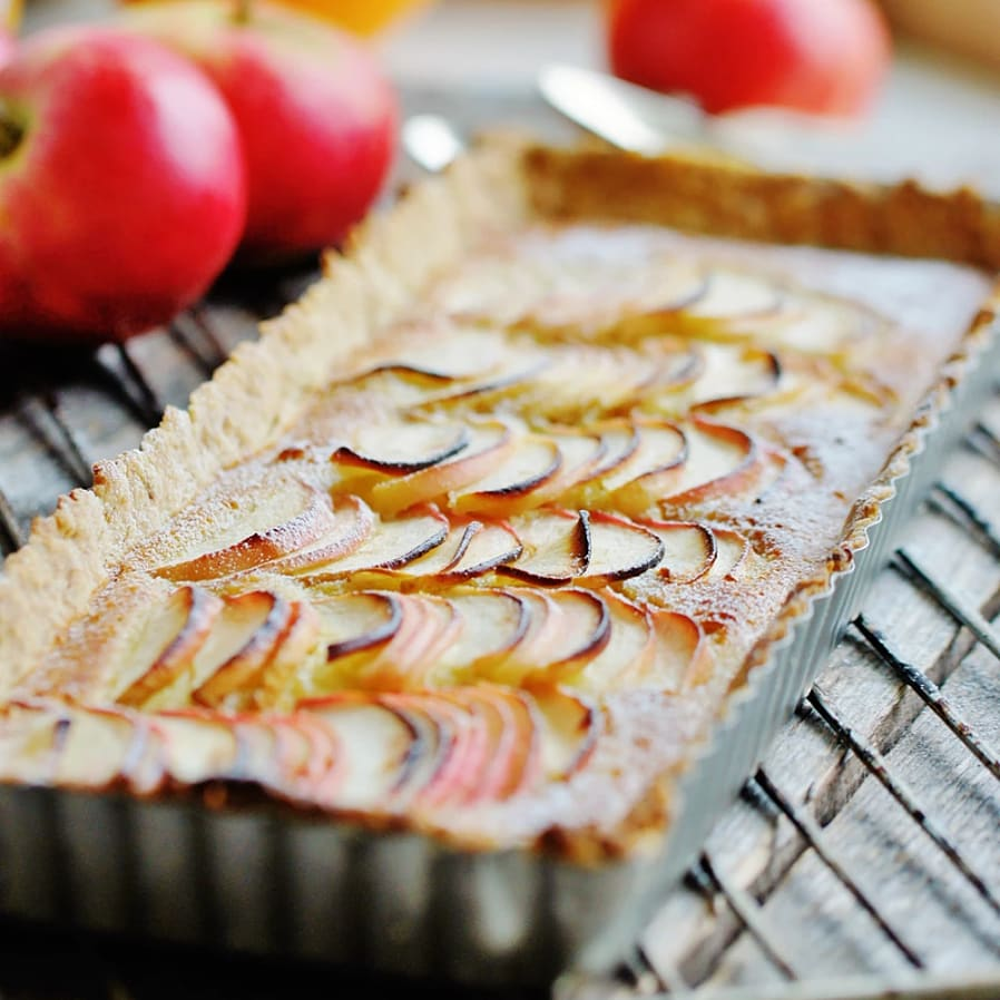 Äppletarte med mandel
