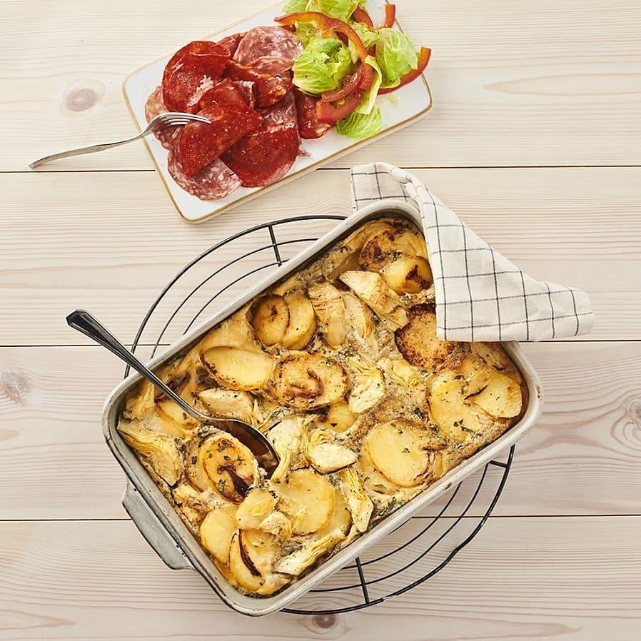 Spansk tortilla med kronärtskocka och chark