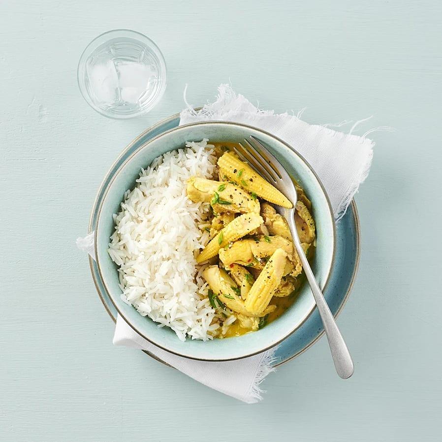 Kycklinggryta med curry och kokosmjölk