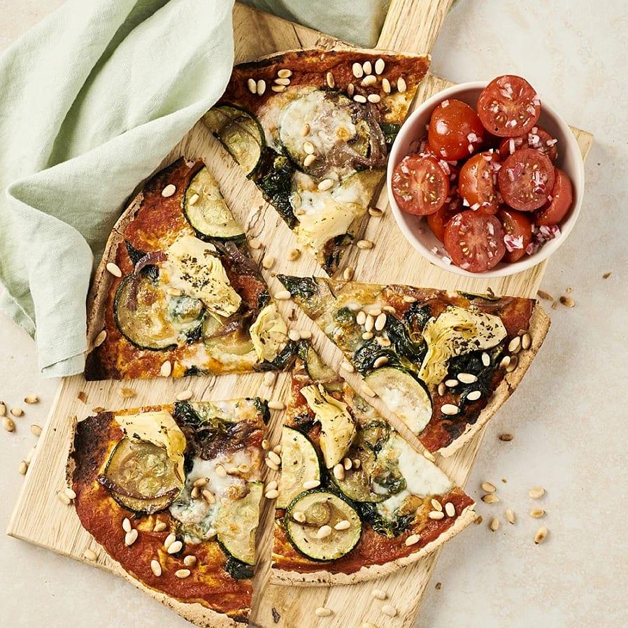 Libapizza med timjan och mozzarella