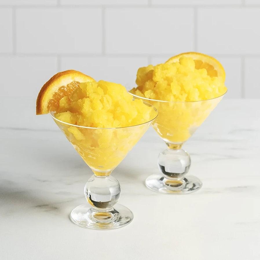 Granité på apelsinläsk och mango