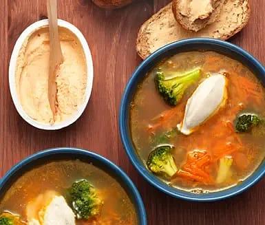Linssoppa med broccoli