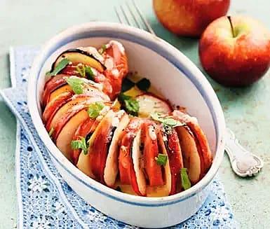 Gratinerad äppel- och ostfalu