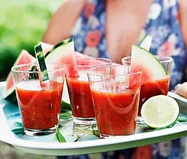 Vattenmelon-gazpacho