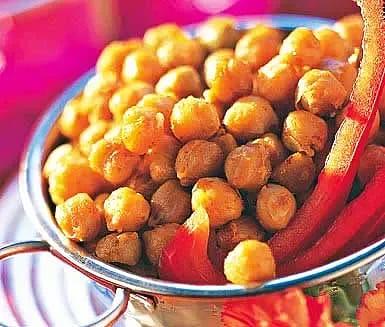 Rostade kryddiga kikärter