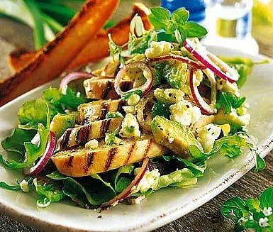 Kyckling med fetaost och avokado