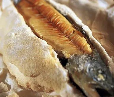Saltinbakad ädelfisk