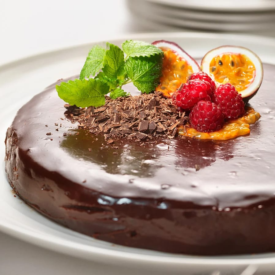 Choklad- och kolatårta