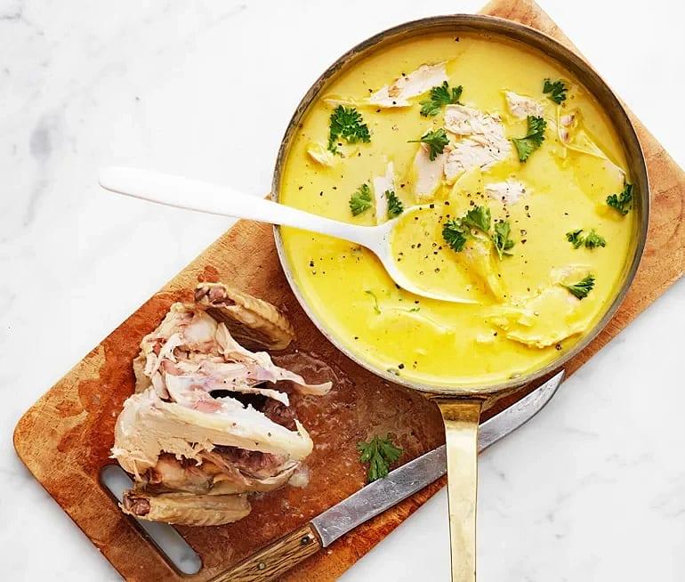 Klassisk kyckling i currysås