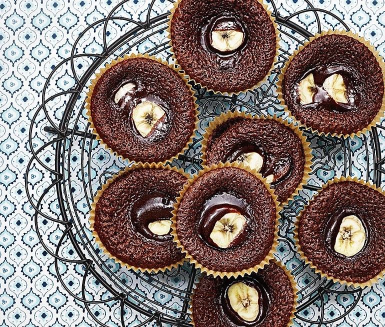 Kladdkakemuffins banan & choklad