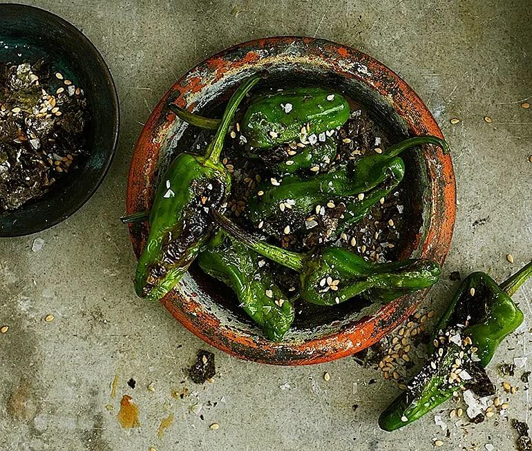 Padrones med alg- och sesamsalt