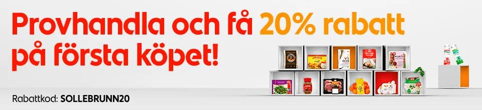20% på första köpet hos ICA Supermarket Sollebrunn