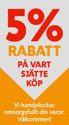 5-procent-rabatt