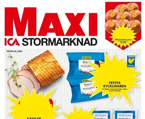 ica maxi annonsblad
