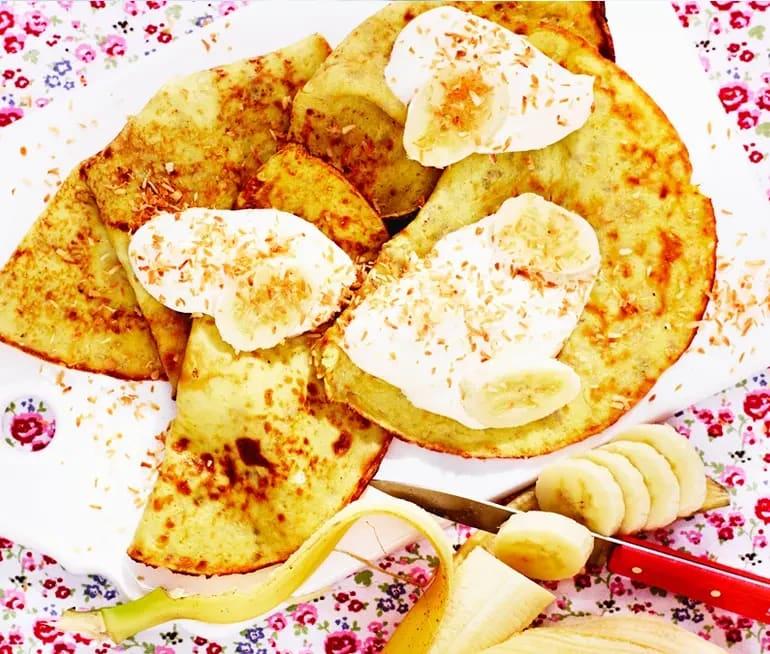 bananpannkaka med mjöl
