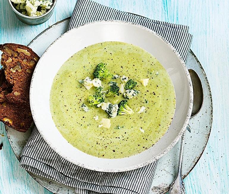 krämig soppa med broccoli