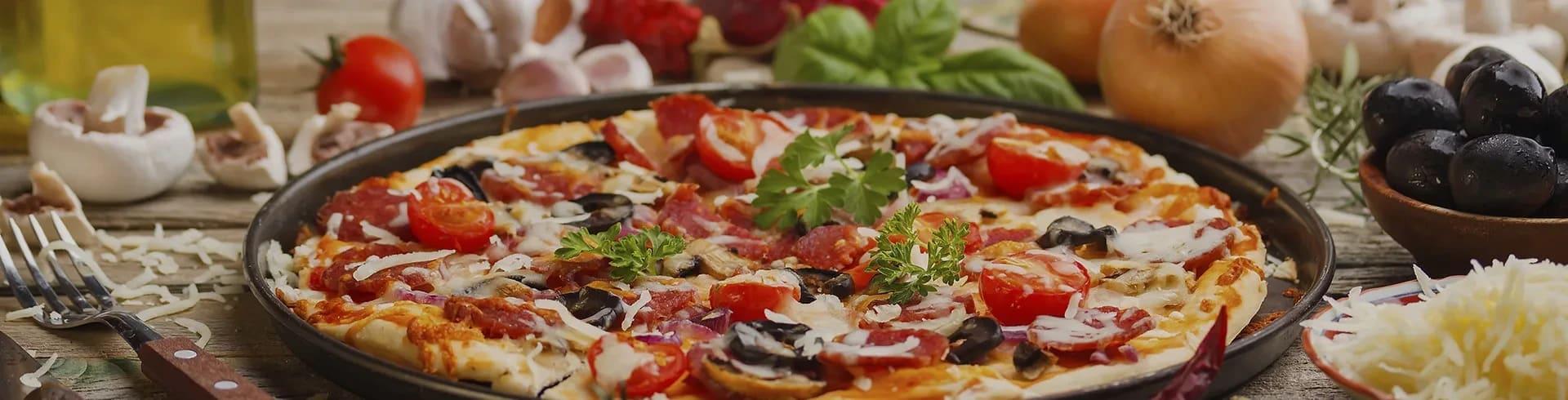 enkel hemmagjord pizza