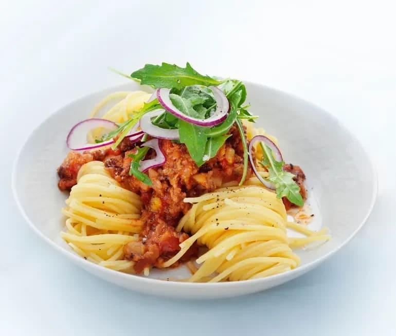 spagetti och köttfärssås kalorier
