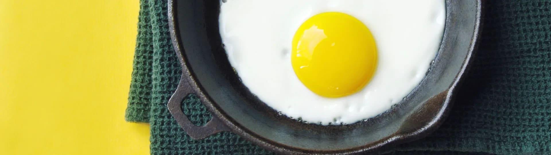 äta för mycket ägg