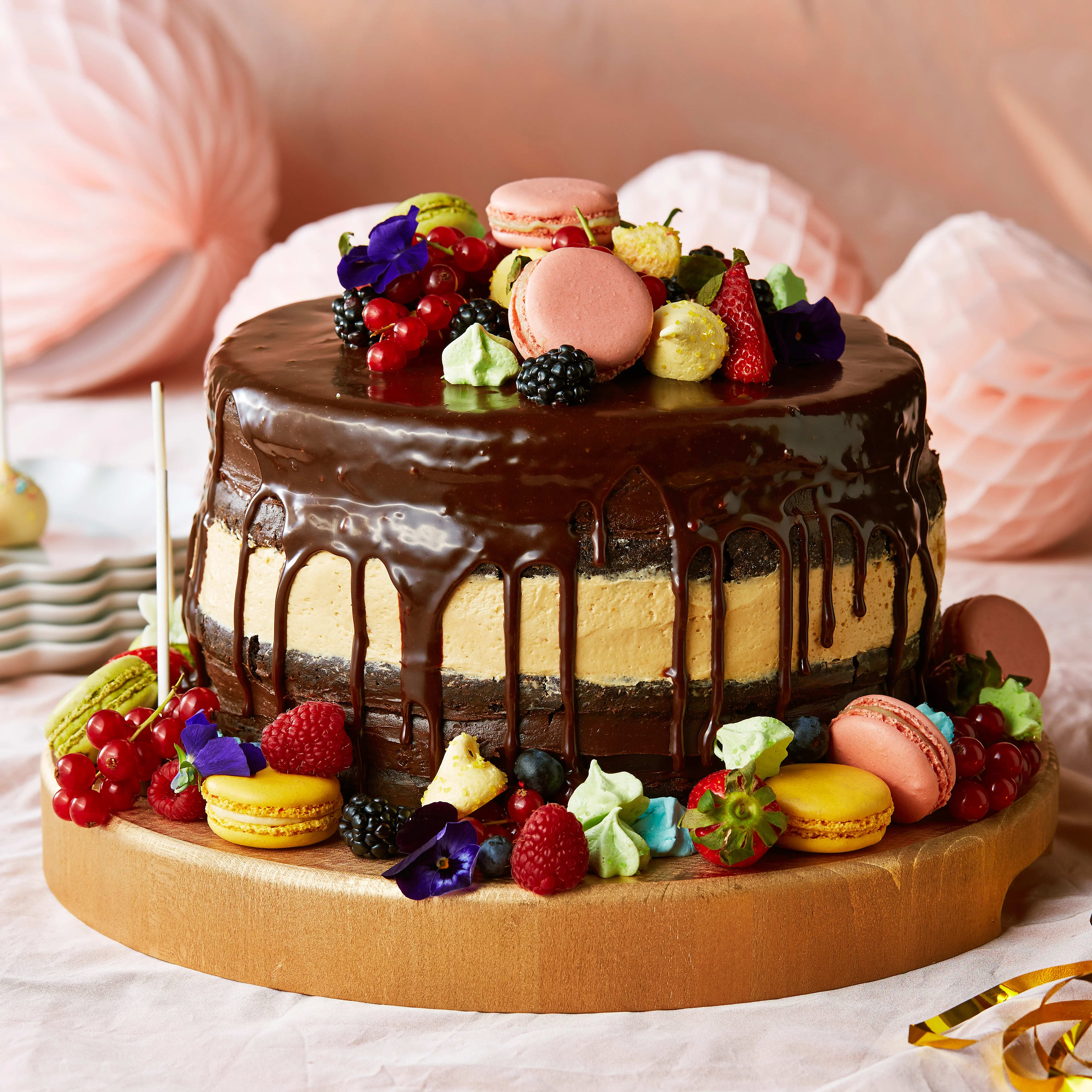 enkel lyxig tårta