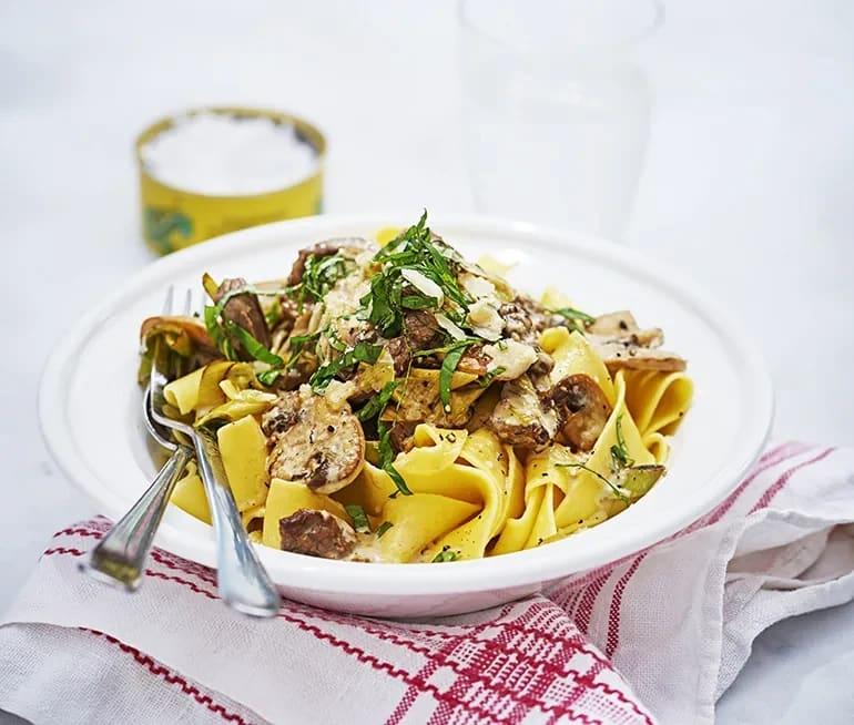 rostbiff pasta grädde