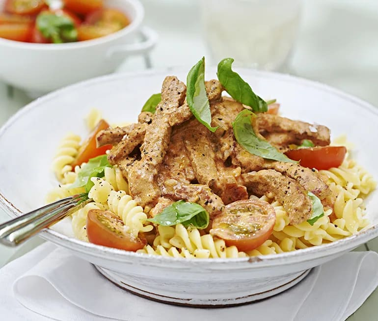 recept med lövbiff och pasta