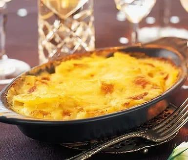 potatisgratäng på kokt potatis