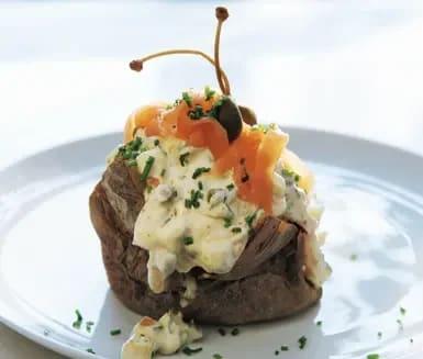 bakad potatis lax
