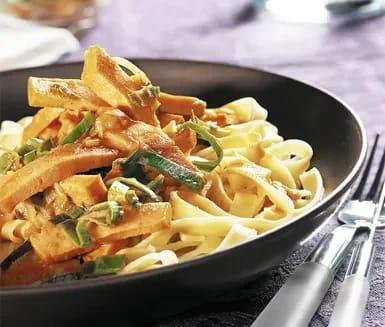korv stroganoff pasta