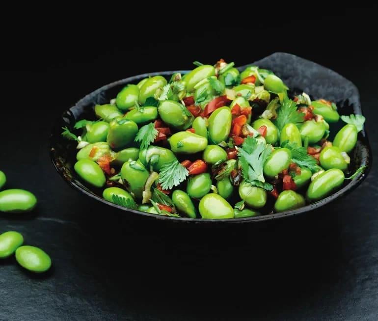 gröna sojabönor sallad