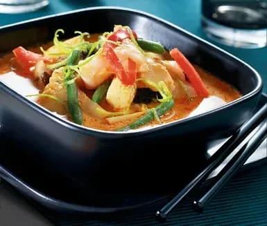 torsk med röd curry