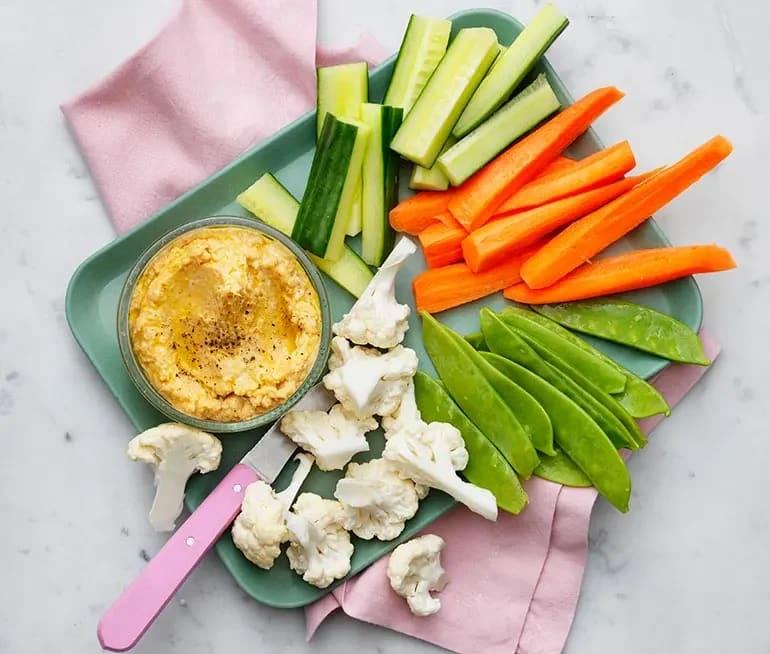 grönsaker att dippa
