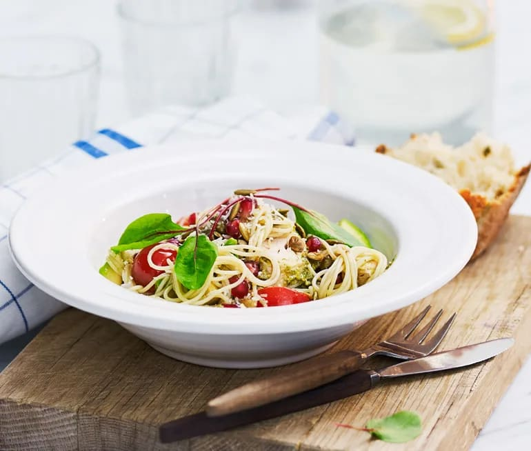 kyckling avokado pasta