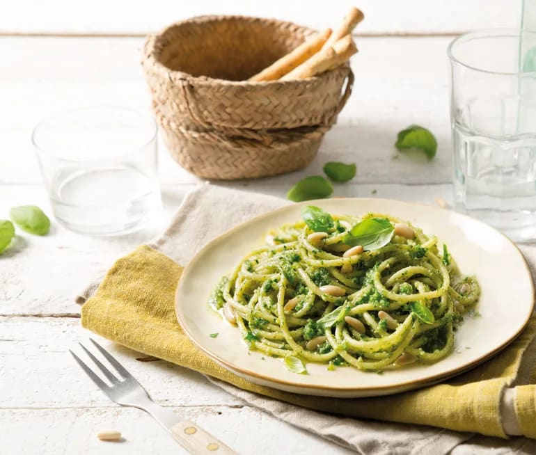 pastarätter med pesto