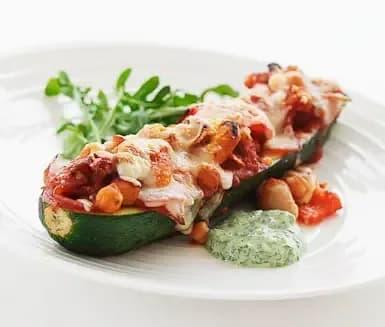 Fylld zucchini recept