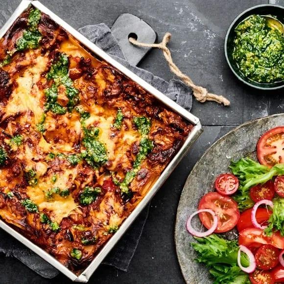 vegetarisk lasagne färskost