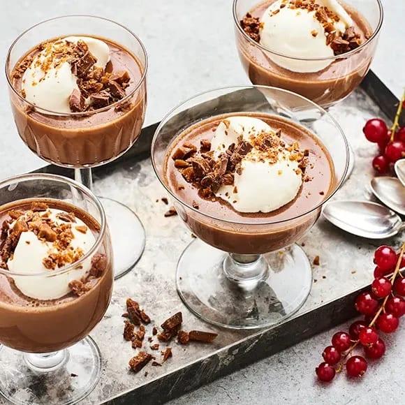 god enkel efterrätt med choklad