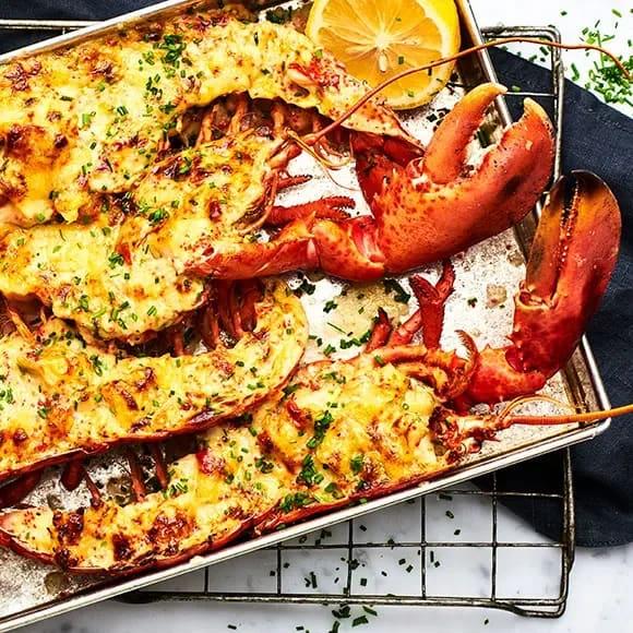 Recept gratinerad hummer