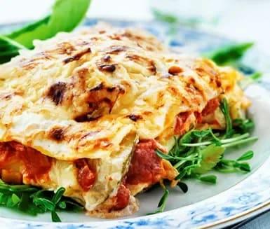 vegetarisk lasagne med creme fraiche