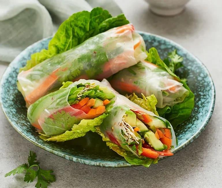 asiatiska vårrullar recept