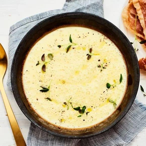 krämig jordärtskockssoppa recept