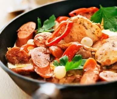 kycklinggryta matlagningsgrädde chorizo
