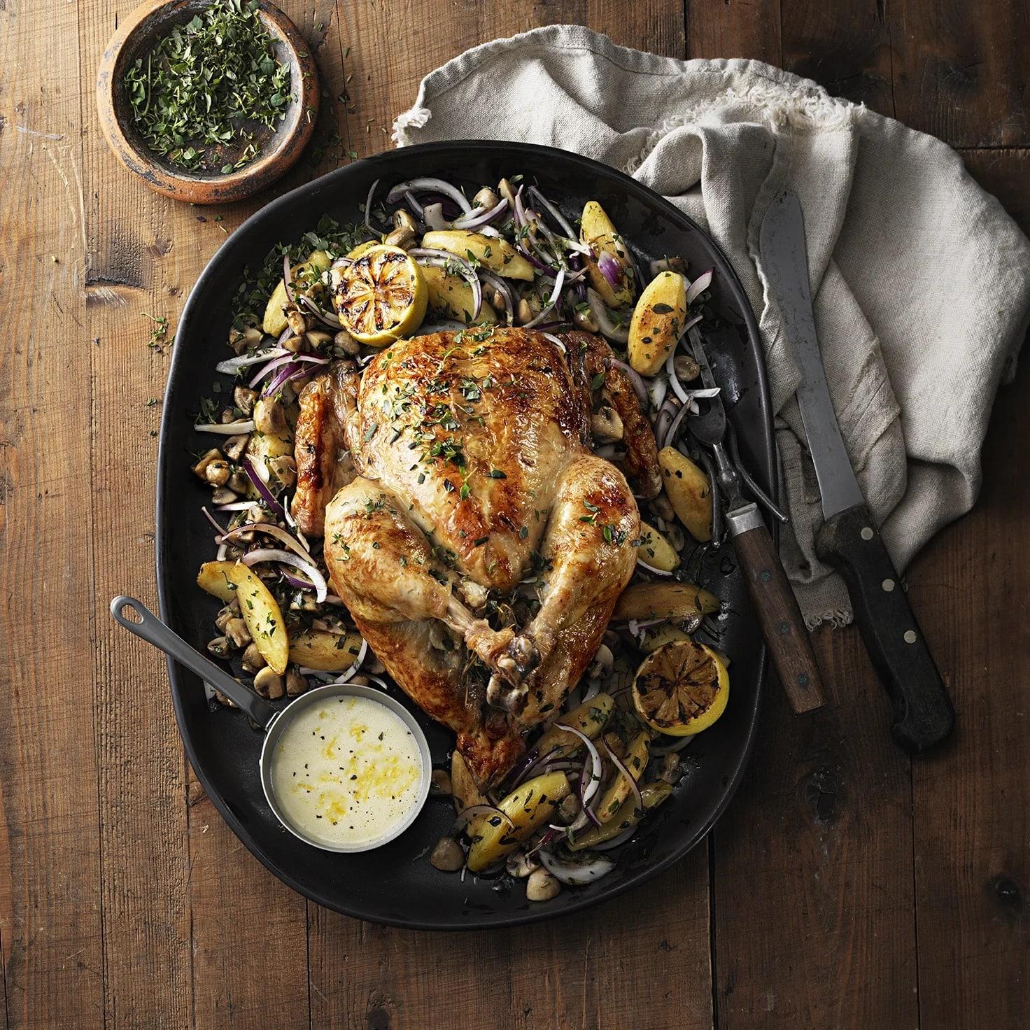 tillagningstid hel kyckling i ugn