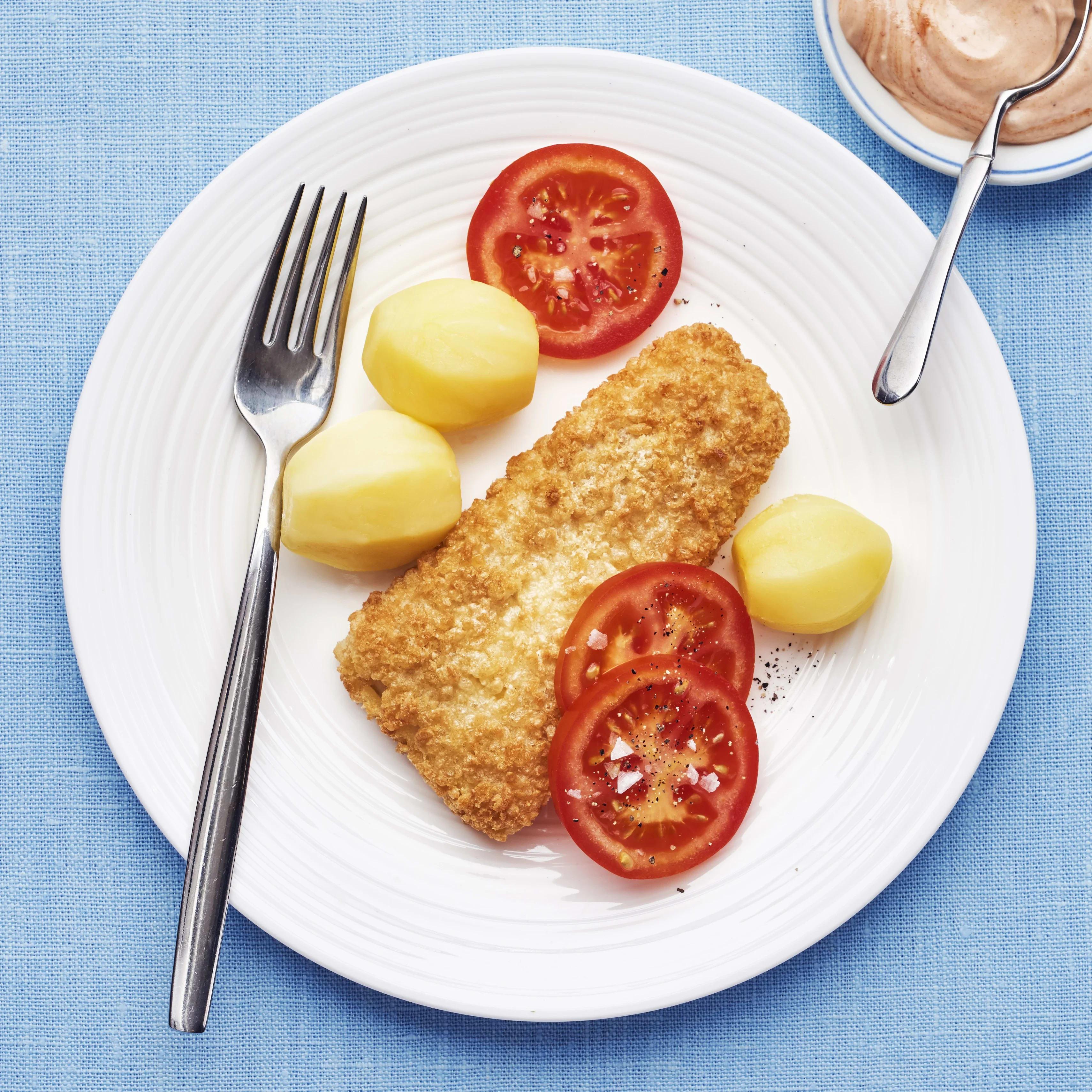 sprödbakad torsk recept