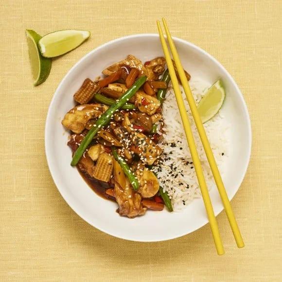 wok recept kyckling med ris